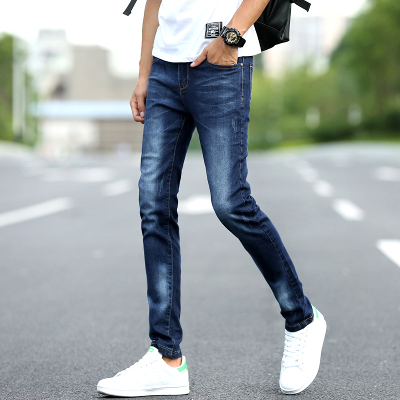 2018 feet four seasons jeans cultivate ones morality pants teenagers tidal stretch pants