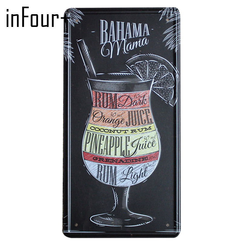 [inFour+] BAHAMA VODKA Plate Metal Plate Car Number Tin Sign Bar Pub Cafe Home Decor Metal Sign Garage Painting Plaques Sign
