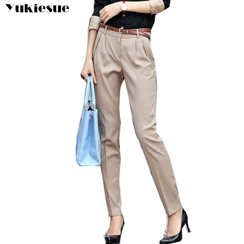 High waist harem   pants     capris   women 2017 spring autumn OL office work wear causal suit   pants   female trousers pantalon mujer