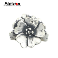 Genuine 925 Sterling Silver Apple Blossom Charm Beads Fit European Troll 3 Mm Bracelet Necklace Jewelry