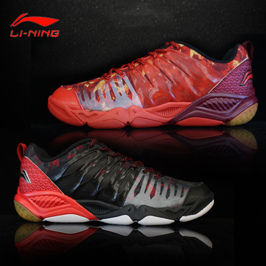 Li Ning Men s Badminton Shoes Multi Accelerate Sneakers TPU Support Sports Shoes lining Breathable Professional