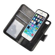 Чехол для iPhone SE 5S 5 съемный чехол кожаный бумажник 2 в 1 Coque сумка Etui для iphone 5SE 5, 6 S 6 S 7 Plus capinhas