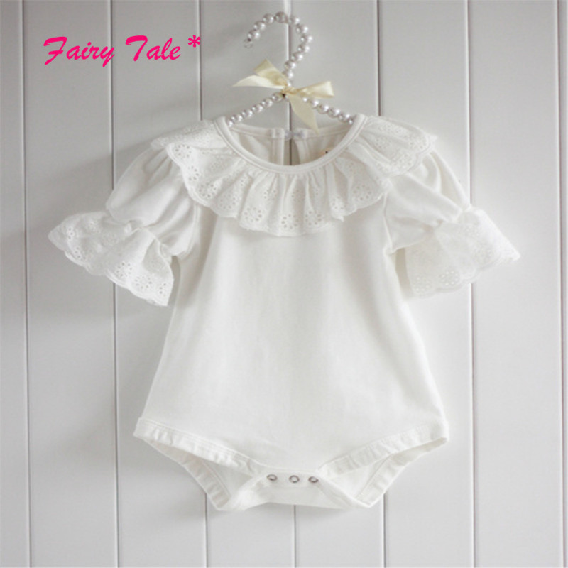 Summer Cotton Baby Rompers Infant Toddler Jumpsuit Lace Collar Short Sleeve Baby Girl Clothing Newborn Overall Clothes cotton baby rompers infant toddler jumpsuit lace collar short sleeve baby girl clothing newborn bebe overall clothes
