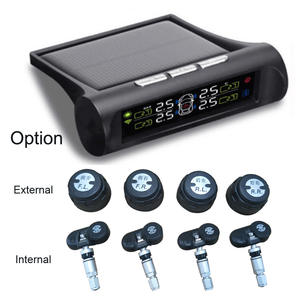 Solar Energy Smart Car TPMS Tire Pressure Monitoring System Digital LCD Display Auto Security Alarm Systems with Sensor