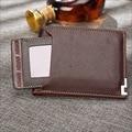 2016 new fashion men wallets Coin purse mens wallet male money purses Soft Card Case New classic soild pattern short designer