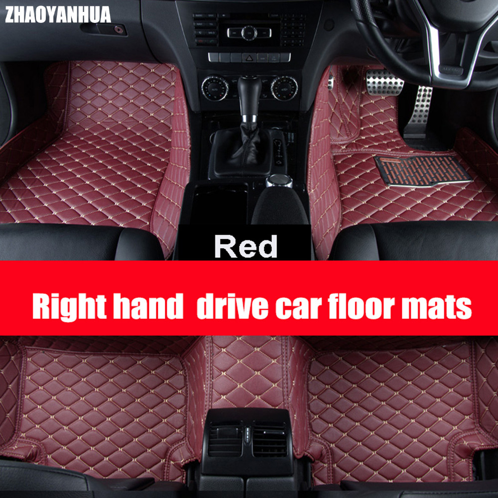 Zhaoyanhua right hand drive car car floor mats for audi a6 c5 c6 c7 a4 b6 b7 b8 allroad avant a3 a5 a7 a8 a8l q3 q5 q7 6d car st in floor
