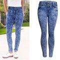 2017 Women Skinny Jeans Famale Slim Elastic Pencil Jeans Ladies Scratched High Waist Long Pants Trousers WJNAM037