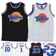 251beaa0aad9 Space Jam Tune-Squad Basketball Jersey Lola 10 Bugs Bunny 1 White Stitched  S-