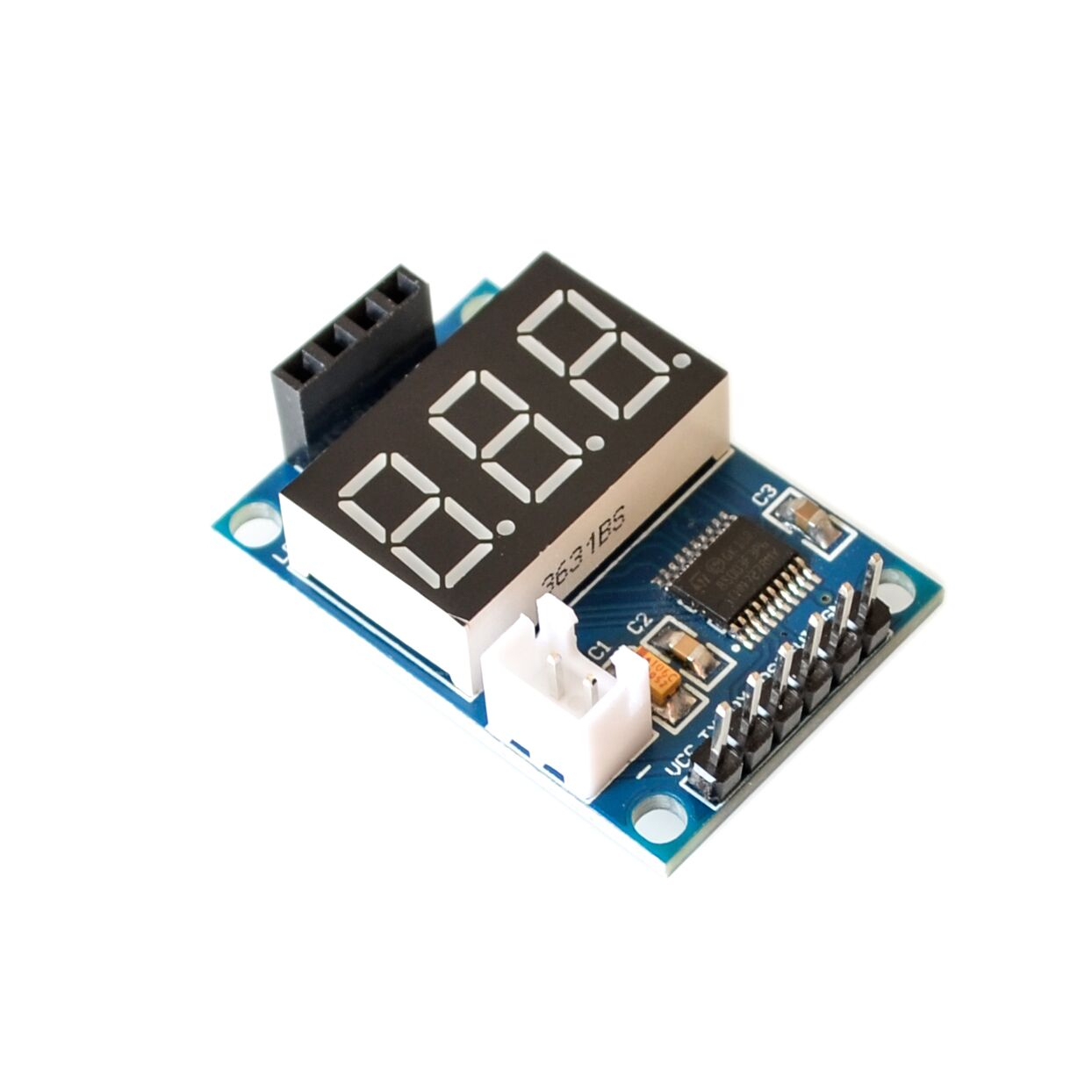 Ultrasonic distance measurement module test board to provide 5V test board test HC-SR04 display range finder