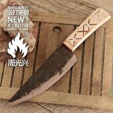 Handgemachte clip-stahl küchenmesser leder profi-koch/Boning/Skinning messer + Peeler + Professionelle Küche Zubehör