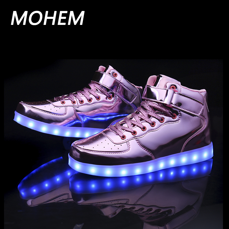 7colors led luminous shoes for boys girls fashion light up casual kids Outdoor child`s shoes Sport casual shoes sneaker 25-40