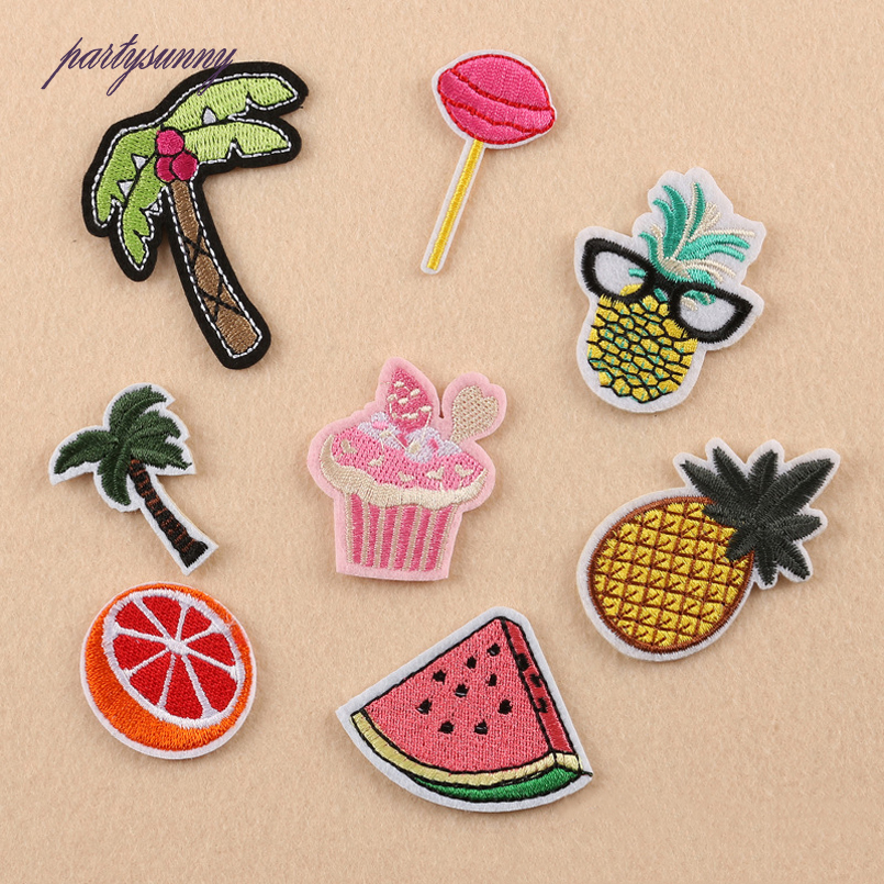 Pf fruit embroidered patches clothing applique accessories