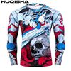 Mens MMA Fitness Rashguard T Shirts Fashion 3D Teen Wolf Long Sleeve Palace Compression Shirt Man Bodybuilding Clothing
