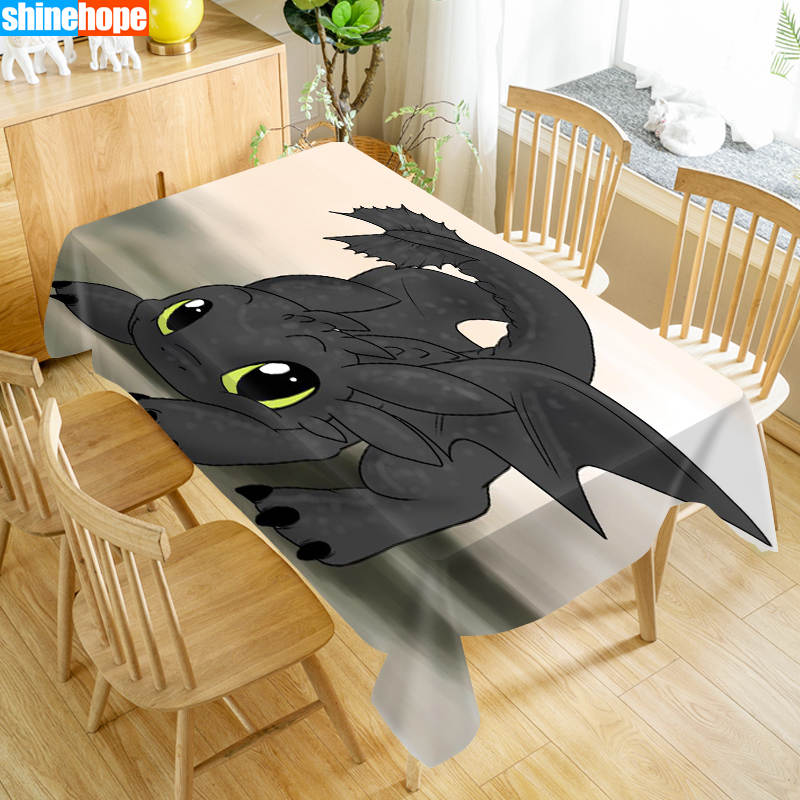 Europe Tablecloth How To Train Your Dragon Dustproof Dinner Table Cloth Rectangular Wedding Decoration Table Cover Home Textiles