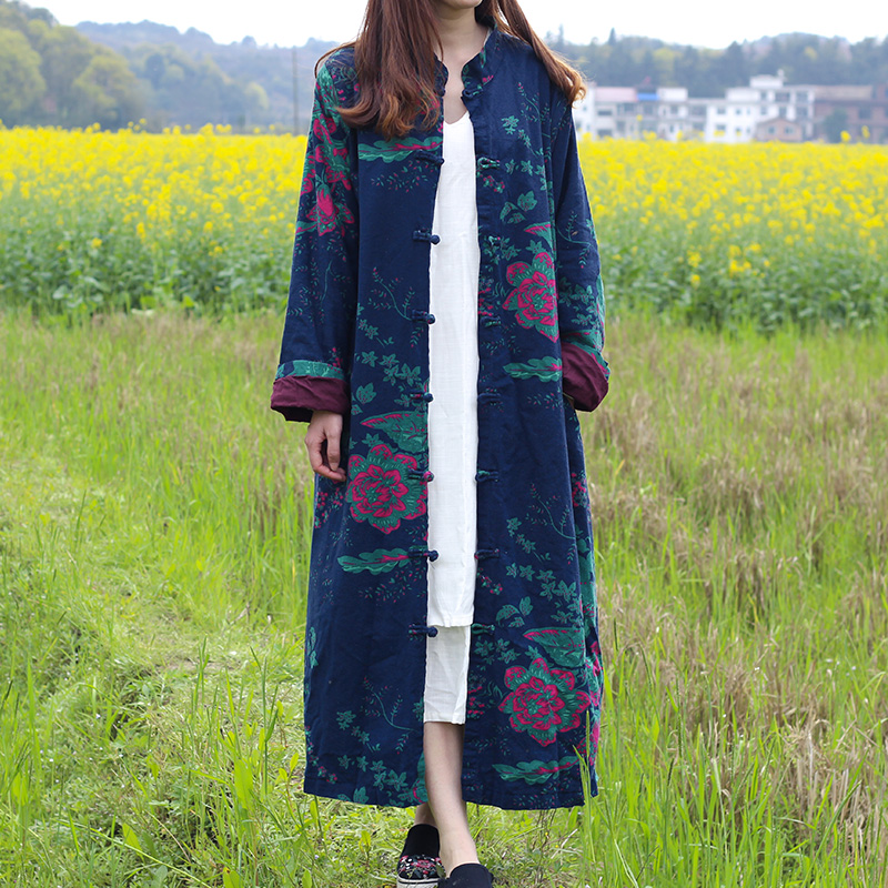 2019 new women cotton linen   trench   coats chinese style casual button short sleeve colour brief   trench   women coat