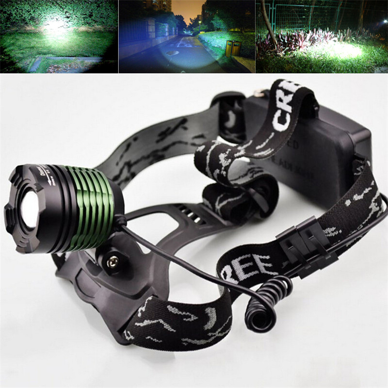 Neue 2000 Lumen XM-L T6 LED Zoomable Scheinwerfer Kopf Taschenlampe Lampe Scheinwerfer Taschenlampe 3-modi Camping Angeln Klettern lampe