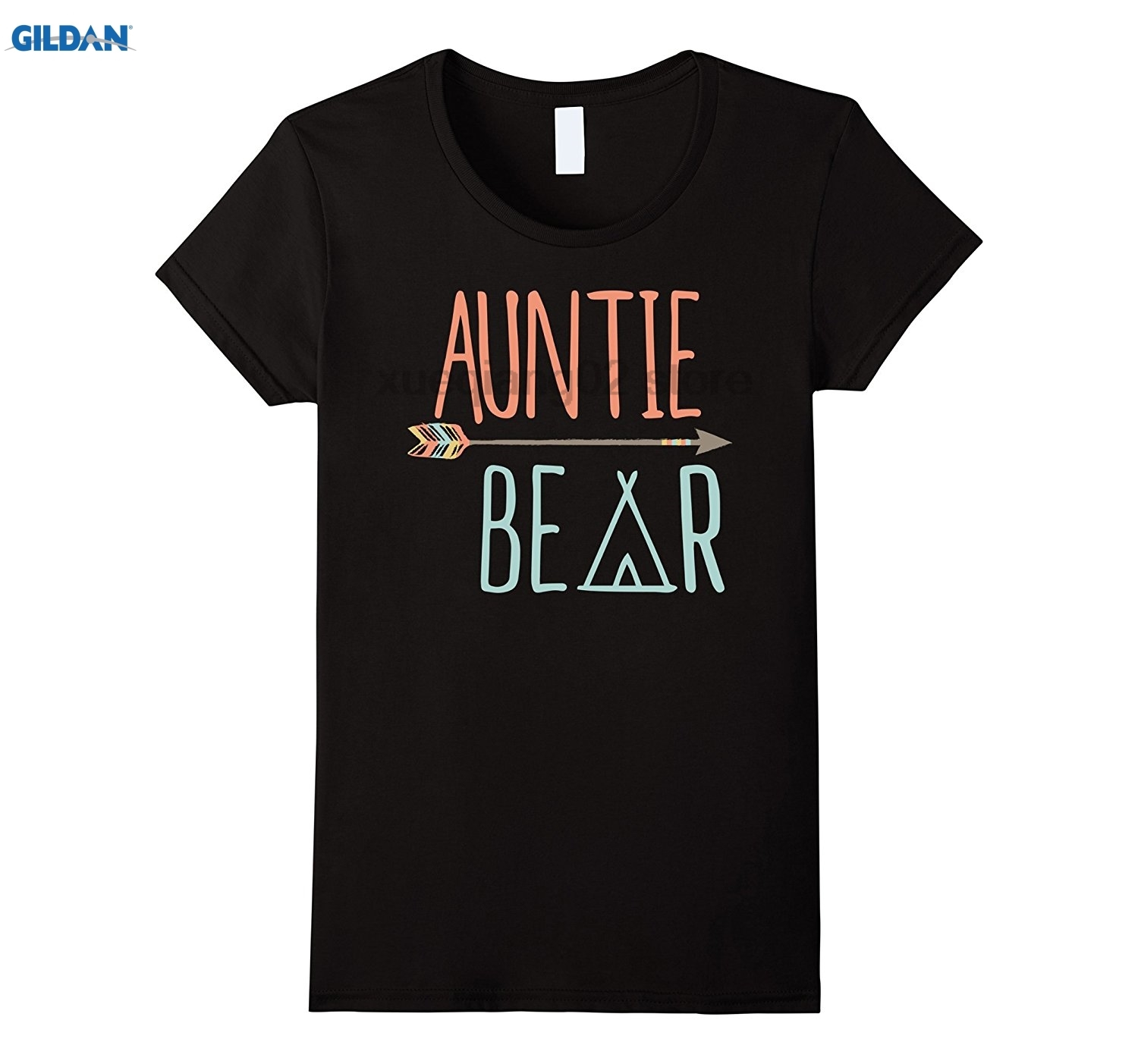 GILDAN Womens Tribal Arrow Auntie Bear Shirt Aunt T-Shirt