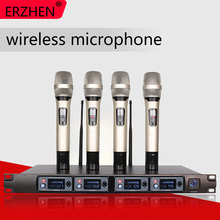 Wireless Microphone System U4000T Professional Microphone 4 Channel UHF Dynamic Professional 4 Handheld Microphone + Karaoke for toshiba a660 a665 laptop motherboard k000104400 nwqaa la 6062p motherboard 100% tested