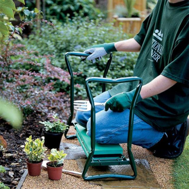 Garden Kneeler and Seat Folding Stainless Steel Garden Stool with Tool Bag EVA Kneeling Pad Gardening Gifts Supply 1