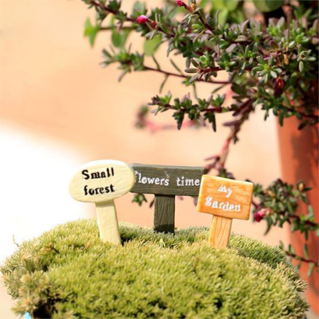mini jardim acessorios:Acessórios Para Mini Jardim Musgo Micro Mundo Letreiro Jardim
