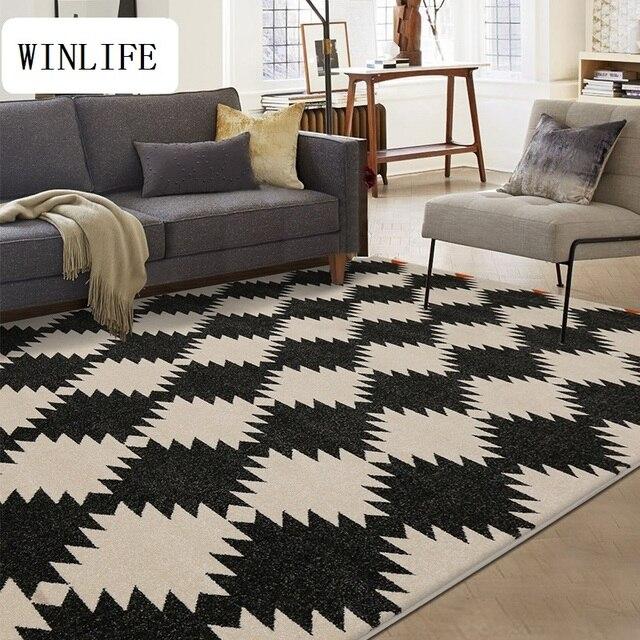 Teppich fur wohnzimmer  WINLIFE Moderne Geometrische Teppiche Nacht Dekorative Teppiche ...