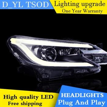 Car Styling Headlights for Toyota  Mark X 2014 LED Headlight for Reiz Head Lamp LED Daytime Running Light LED DRL Bi-Xenon HID