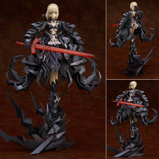 Fate Saber black Alter Sebastian Huke Action Figure Model Decoraction Gifts
