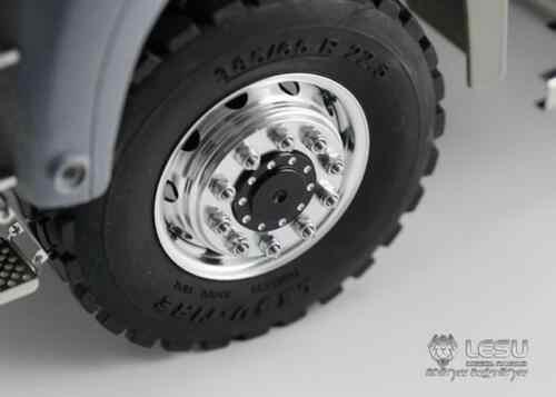LESU 1/14 RC modelo hombre 6*6 cilindro delantero camión volquete hidráulico Radio THZH0201
