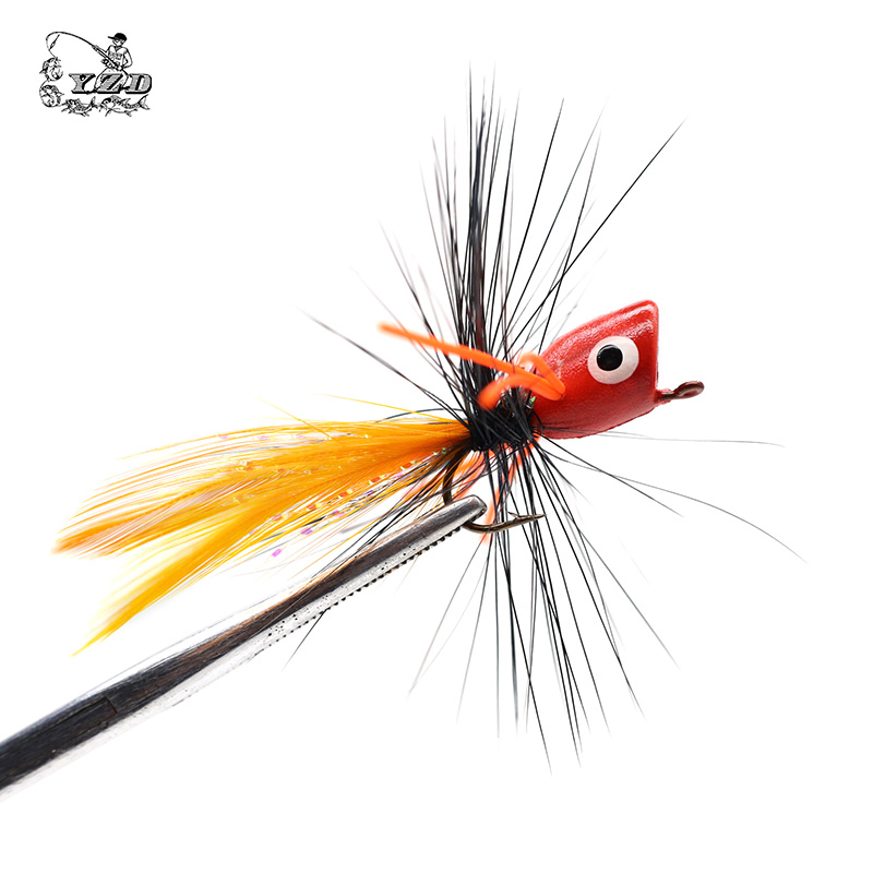 Wholesale Fly Fishing Flies: Aliexpress.com : Buy Popper Flies 12PCS Set Bass Popper