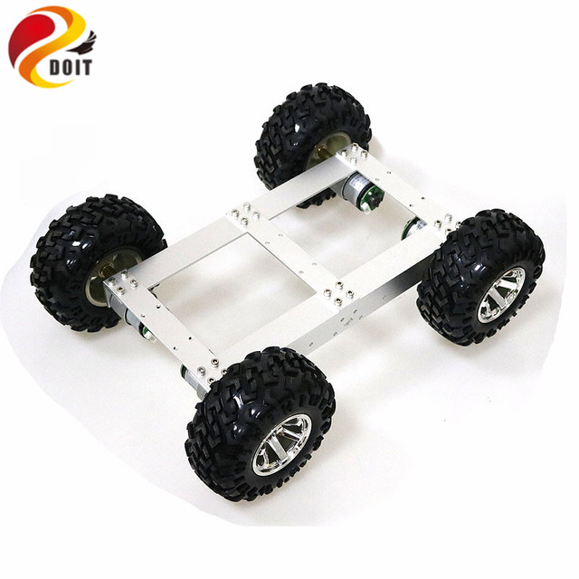 C4 4wd Smart Car Chassis Kit 4 Motor Drive Mobile Robot Hall Motor for Electronic Competition Graduation Design