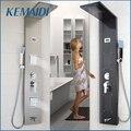 KEMAIDI Современная душевая колонка из нержавеющей стали, настенная одна ручка + ручной душ + Ванна Носик + массажная система, душевая панель