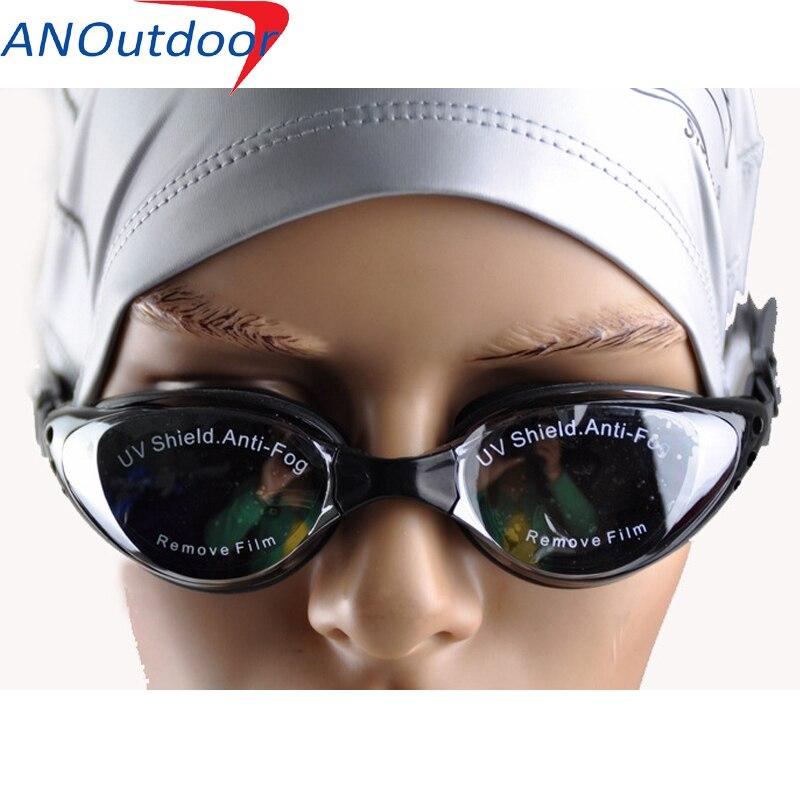 1PCS Multi Prescription Optical Myopia Nearsight Glasses Sportswear Silicone Polycarbonate Lens Anti fog Coated Watertight Black