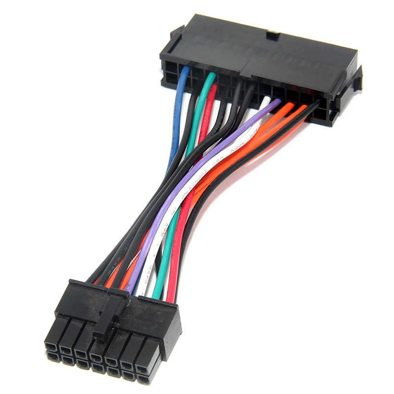 Alta Qualidade ATX 24pin para 14pin Cabo Adaptador de Energia para Lenovo IBM Q77 B75 A75 Q75 motherboard 18AWG cabo de Alimentação de energia