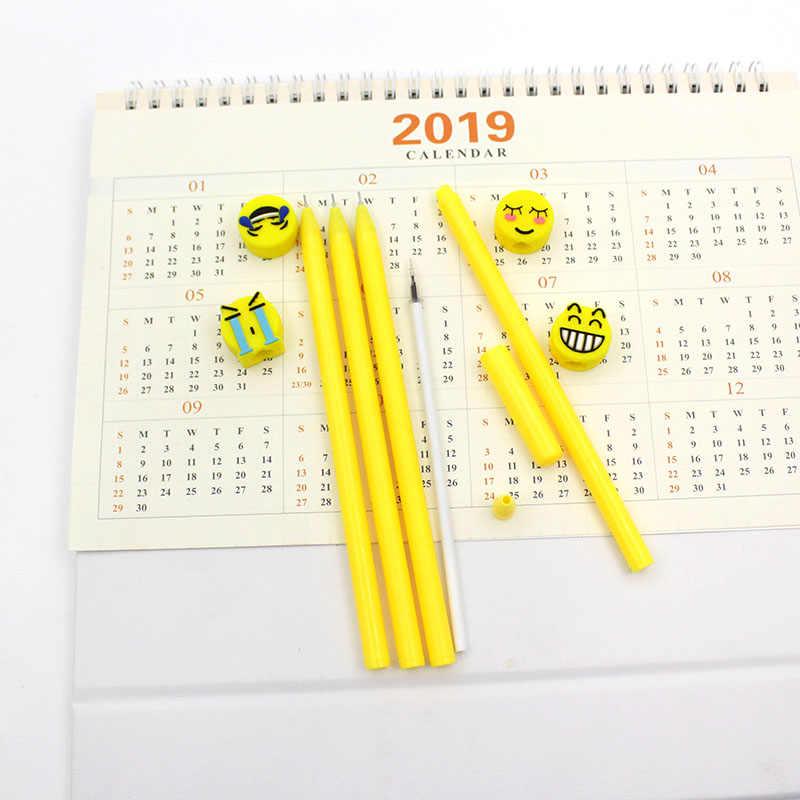 4 rodzaje silikonowe smiley wyraz długopis cute cartoon na bazie wody długopis jakości biuro podpis uczenia się biurowe długopis żelowy