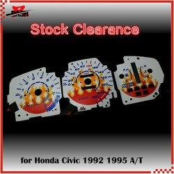 DASH EL Glow Gauge for  Civic EG 1992 1995 Auto transmission Sound Activated Flame design