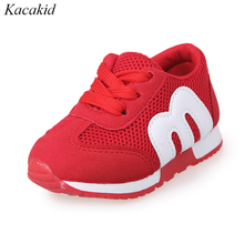 ФОТО children shoes boys and girls fashion sports casual shoes kids breathable sneakers baby toddler shoes
