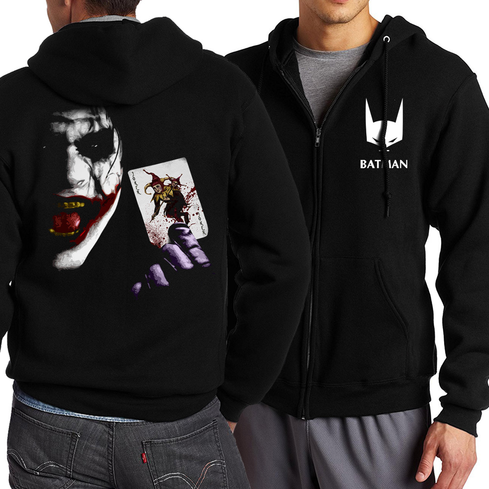 new fashion spring autumn 2017 funny heath ledger joker hoodies men sweatshit harajuku zipper jacket homme mma homme S-5XL