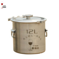 12L Bucket 304 Stainless Steel Barrel Home Brewing Fermentation Tank Wine & Beer Fermenter Clamp Design Storage Container