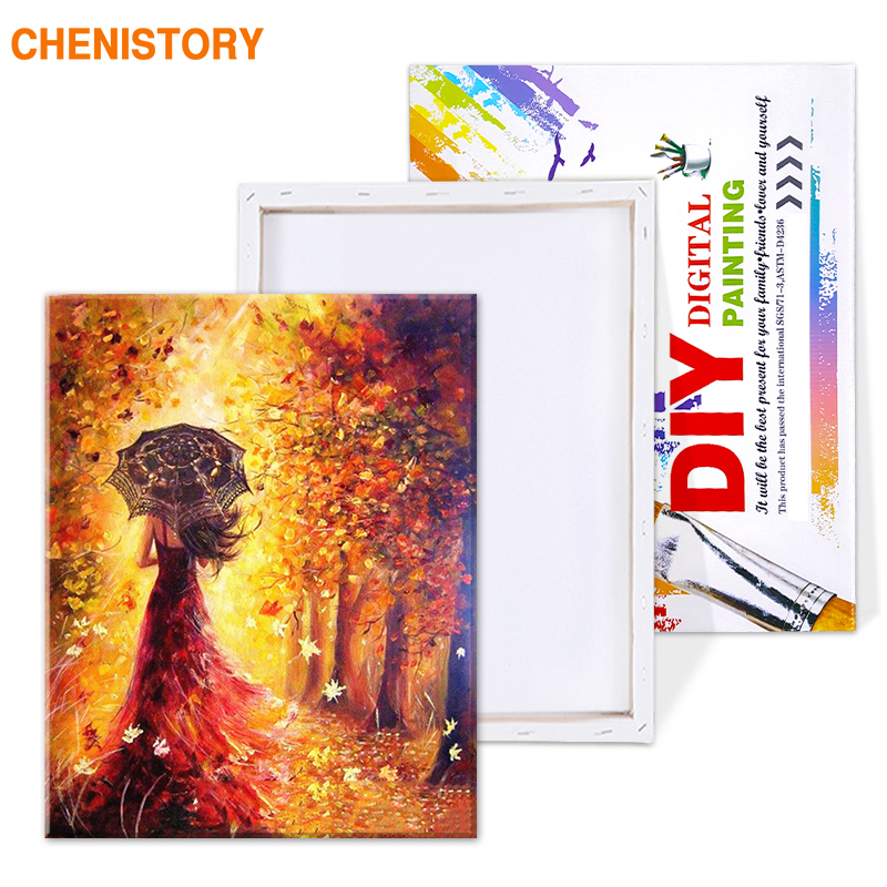 HTB1pF2rTYvpK1RjSZFqq6AXUVXaT CHENISTORY Beautiful Women Autumn Landscape DIY Painting By Numbers Kits Coloring Paint By Numbers Modern Wall Art Picture Gift