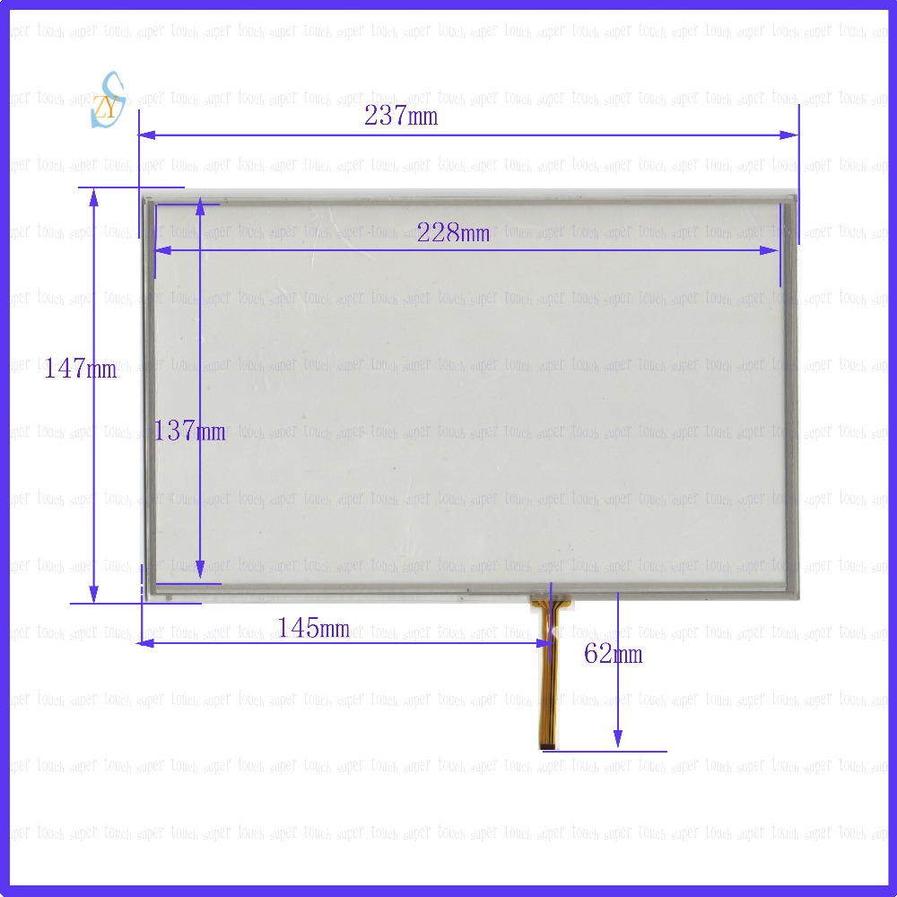 ZhiYuSun 2PCS/Lot 237*147 10.4inch 4 lines Resistive touch screens 237mm*147mm screen free shipping GLASS thickness is 2mm zhiyusun for kinco mt4512t m4522t et100 touch screen sensor touch screens 10inch 4 lines touch screen 240mm 143mm