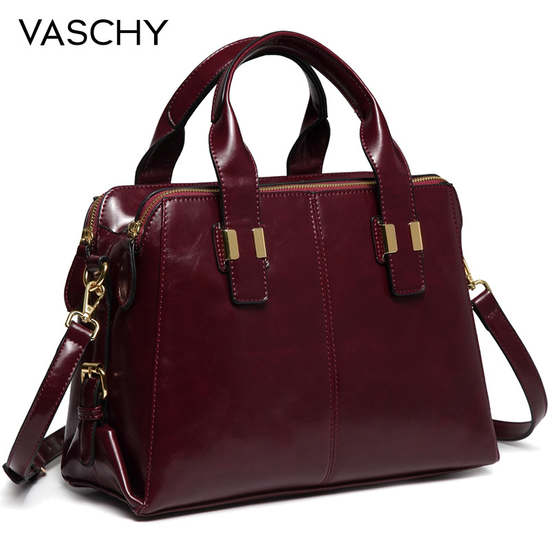 VASCHY Patent Leather Satchel Bag for Women Fashion Top Handle  Handbag Work Tote Purse with Triple Compartments BriefcaseTop-Handle  Bags