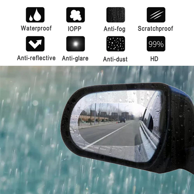 наклейки на авто 2 шт. непромокаемый автомобиль зеркало заднего вида пленка наклейка Анти-туман защитная пленка дождь щит Замена наклейки s на все автомобиль 135*95 мм