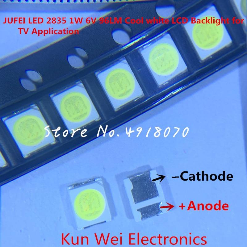 5000PCS Konka Changhong Amoi LCD TV backlight Jufei 3528 SMD LED 2835 6V Cool white 96LM