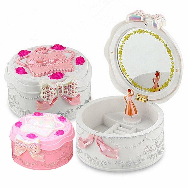 Creative Music Box Dancing Girl Plastic Music Jewelry Box Childrens Christmas Gifts Musical Jewellery Box Hand Crank Music Box