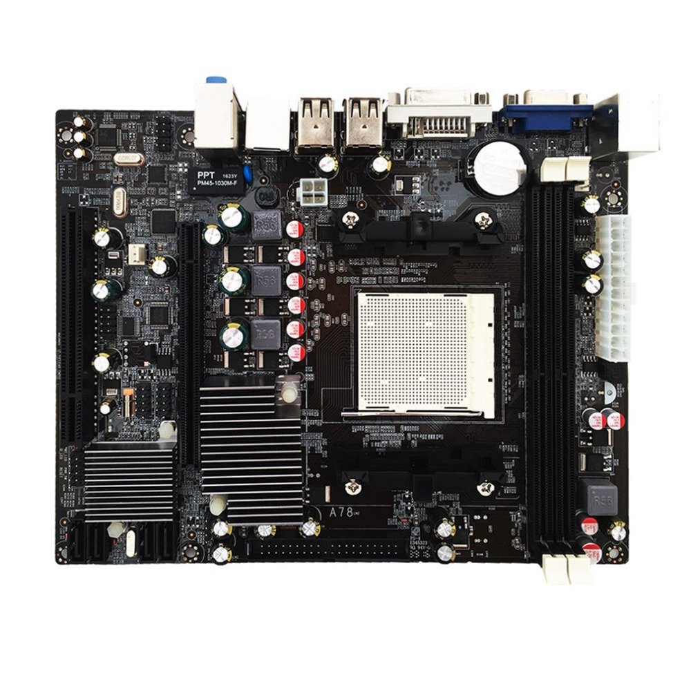 High Performance A780 Desktop Computer Motherboard 780G Mainboard Support DDR3 Memory Dual Channel AM3 CPU 16G Memory Storage image
