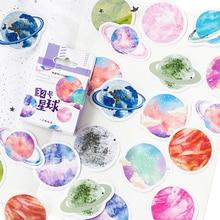 20packs/lot Creative No.32 Planet Decoration Box Sticker Handbook adhesive paper sticker diy
