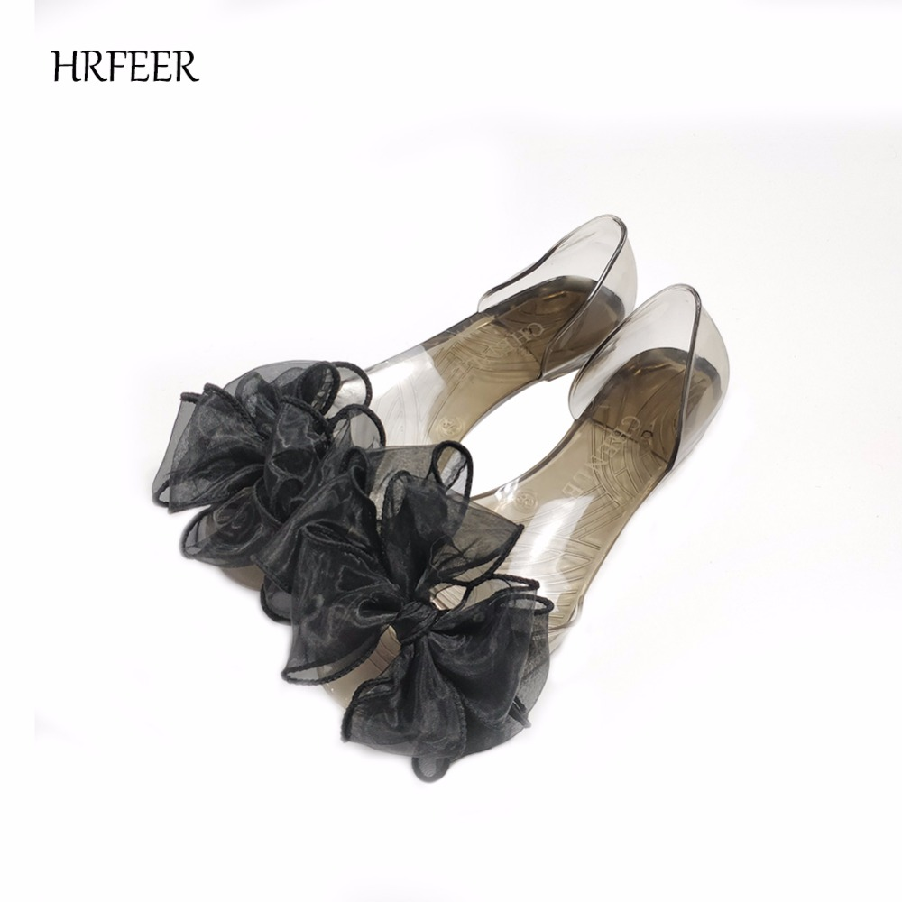 HRFEER 2018 Women Flats Sweet Bowknot Summer Flat Jelly Shoes for - Women's Shoes