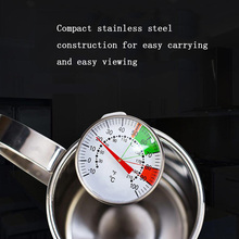 Multi-angle thermometer kitchen stainless steel milk drink drink pointer thermometer 100 degrees Celsius cooking tools 0 100 degree length of 5 cm bimetallic thermometer wss 411 stainless steel disc industrial boiler thermometer radial