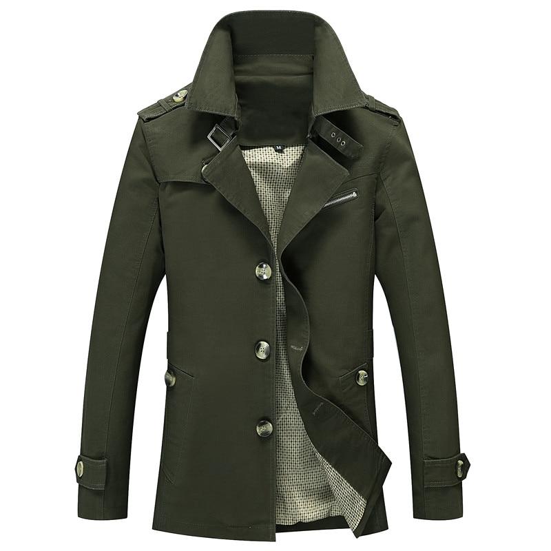 봄과 가을 남성 재킷 패션 캐주얼 면화 남성 코트 블랙 카키와 군대 녹색 옷 무료 배송