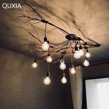 Araña nórdica Led E27 lámpara Industrial Loft moderno diseño Vintage hogar sala de estar Café Bar ropa luz colgante